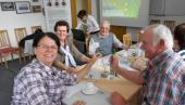 in der Begegnungsstätte des Gehörlosenzentrums Zwickau