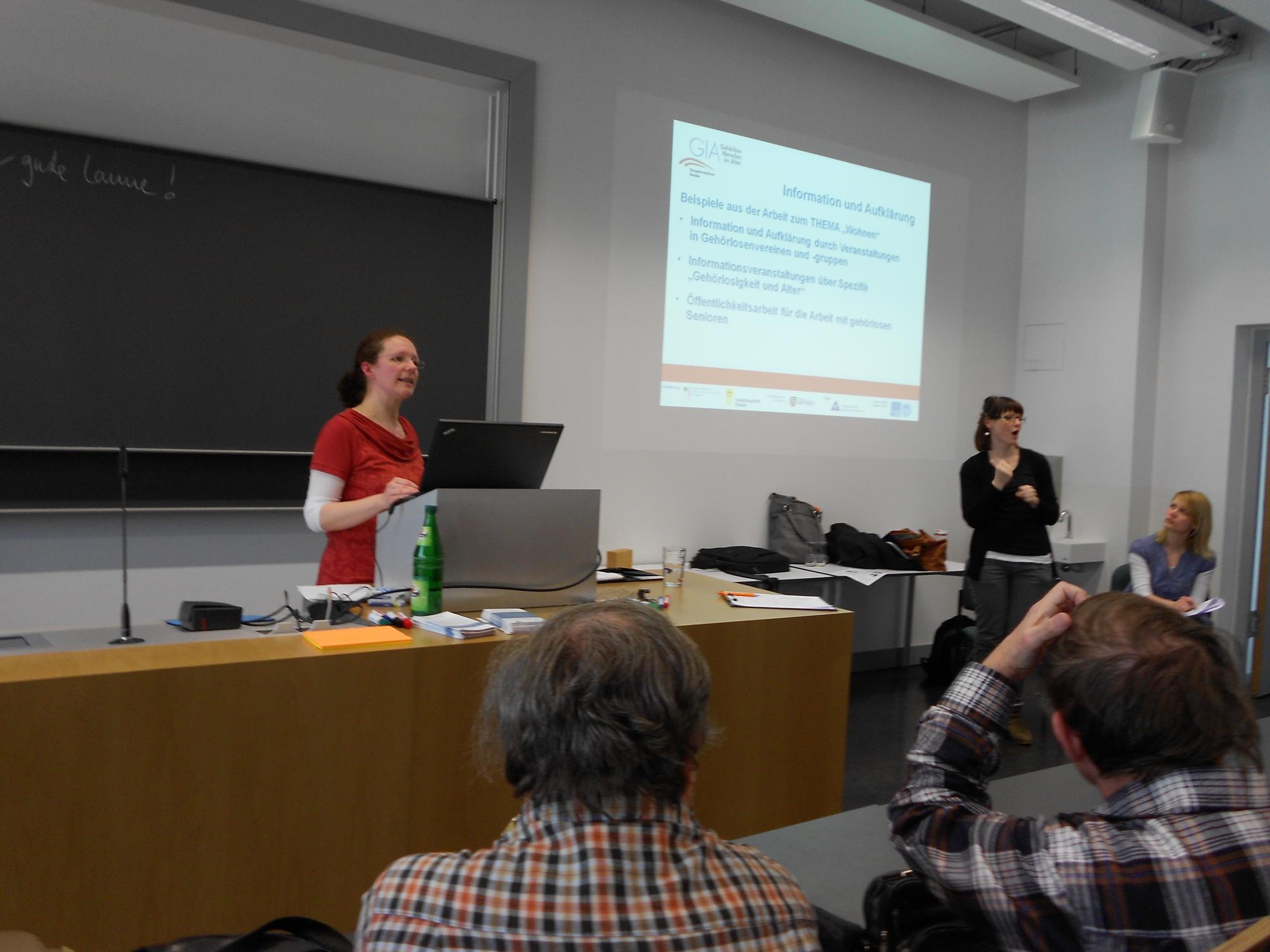 Vorstellung des GIA Kompetenzzentrums Dresden durch Frau Gorn
