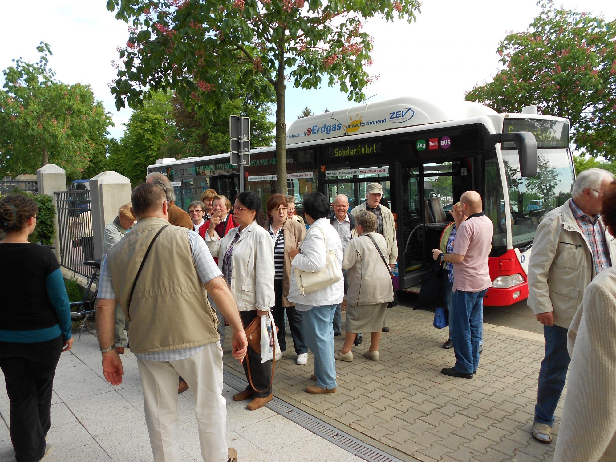 Seniorentreffen Ankunft August Horch Museum Zwickau