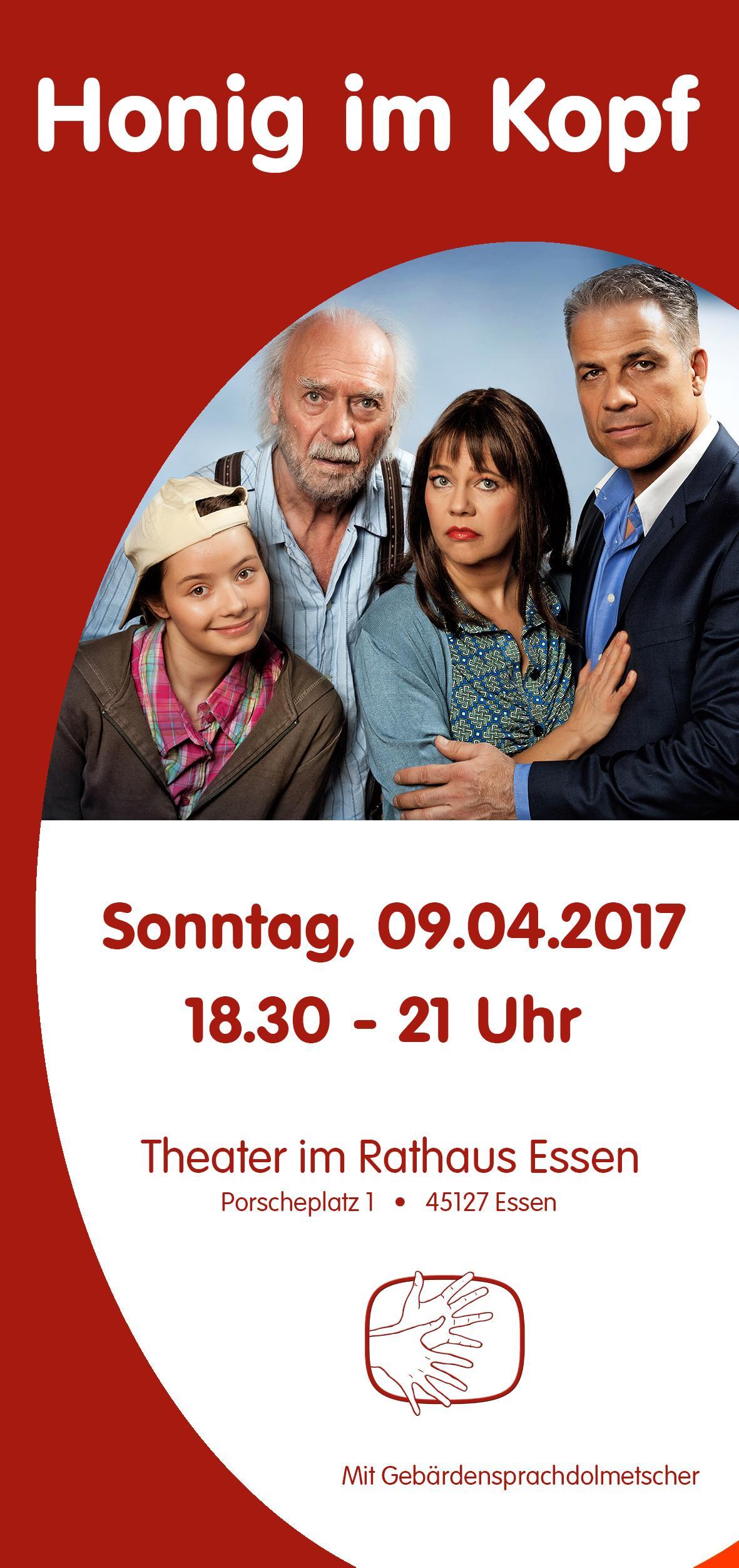 """Theater """"Honig im Kopf"""" mit Gebärdensprachdolmetscher im Rathaus-Theater Essen"""