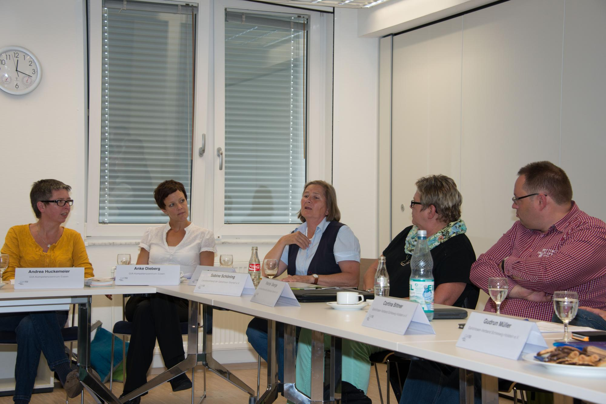 Andrea Huckemeier, Anke Dieberg, Edda Lührs, Sabine Schöning und Patrick George
