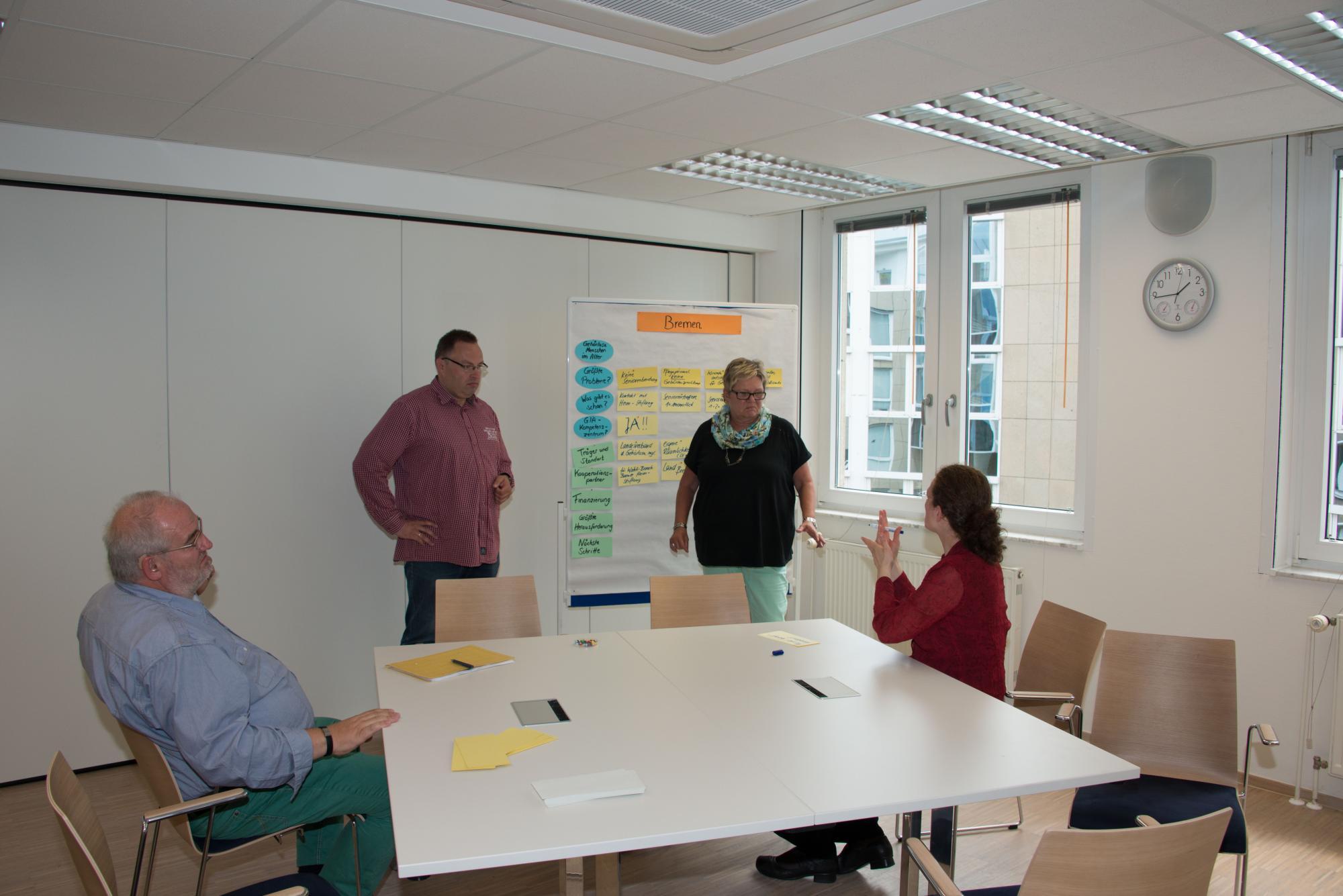 Martin Domke, Patrick George, Sabine Schöning und Angelika Gorn