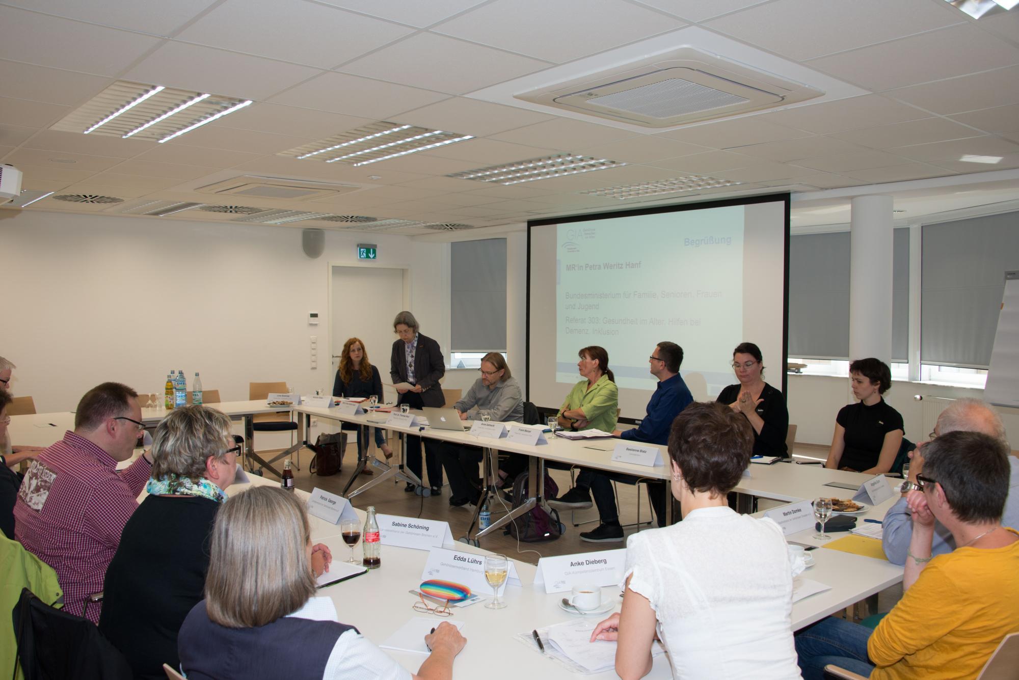 """Workshop """"Voraussetzungen und Wege zur Realisierung eines GIA-Kompetenzzentrums"""""""