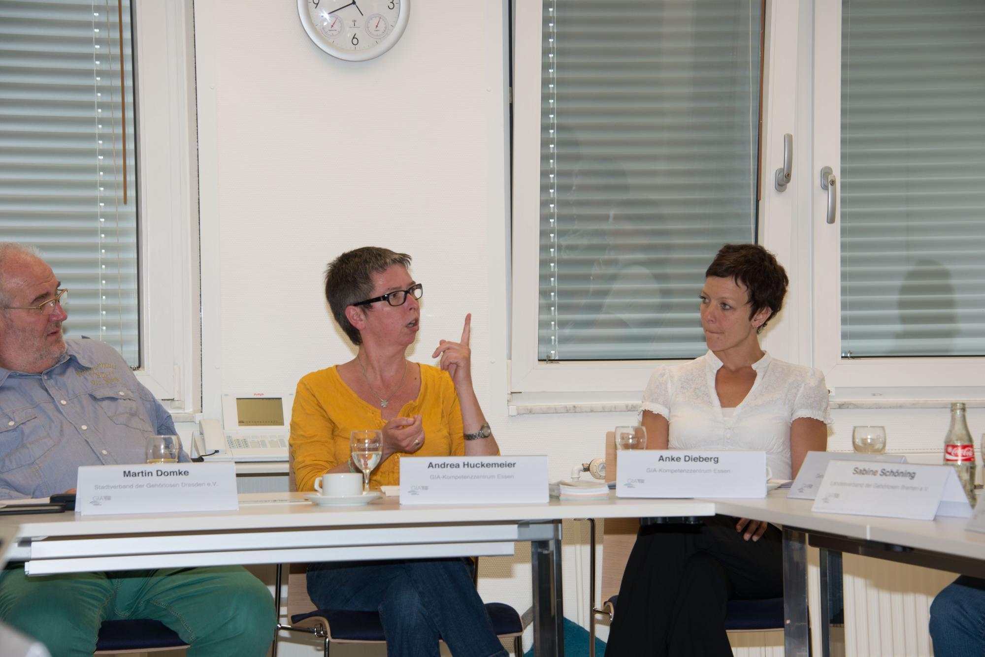 Martin Domke, Andrea Huckemeier und Anke Dieberg