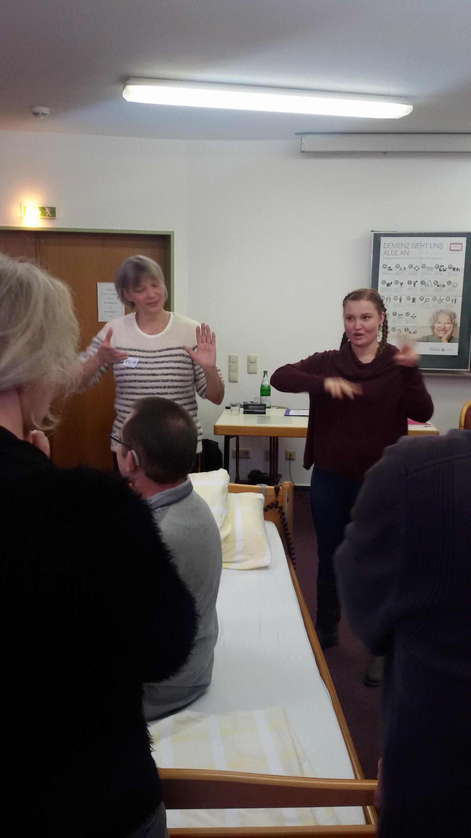 Was beim Üben gut geklappt hat - Austausch mit den Teilnehmern
